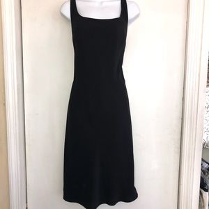 EVAN PICONE 12 Sleeveless LBD Black Dress Flouncy